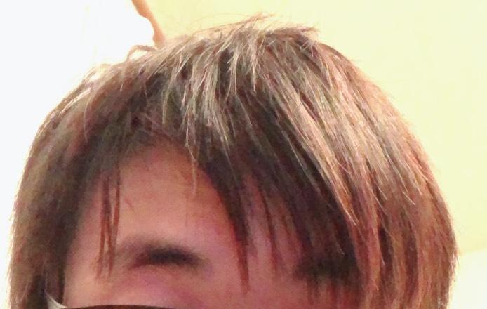 髪を切る前の髪型